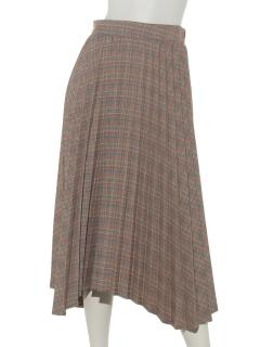 グレンチェックプリーツスカート