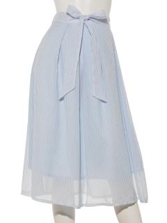 ストライプリボンスカート
