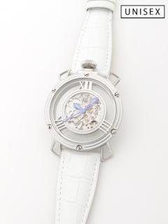 【日本製】【ユニセックス】機械式手巻き腕時計Skeleton