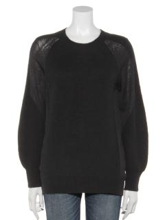 袖切り替えセーター