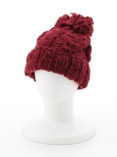【Newlyme】スラブケーブル編みニット帽