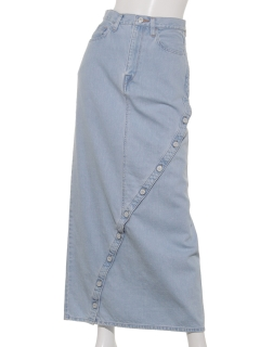 LANTANAアシンメトリーフロントボタンスカート