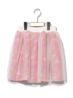 【POMONA KISS】チュールギャザースカート