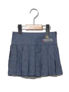 【POMONA KISS】水玉プリーツスカート