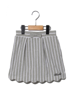 【POMONA KISS】スカラップストライプスカート