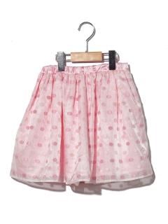【POMONA KISS】水玉オーガンジースカート