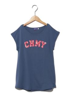 【chummy】バンダナ柄ロゴTシャツ