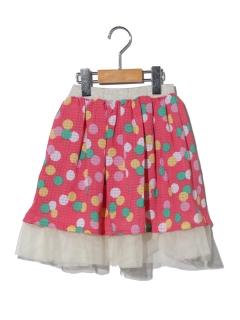 【chalulu】リバーシブル水玉スカート
