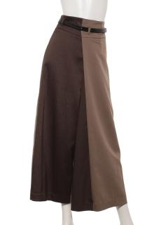 配色スカート見えパンツ