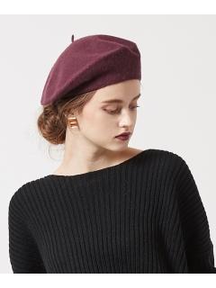 ウール混ベーシックベレー帽