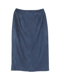 フェイクスエードタイトロングスカート