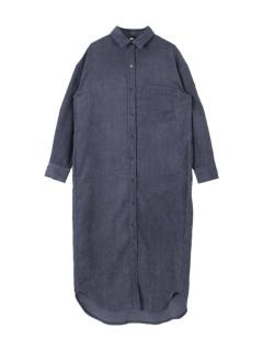 コーデュロイロングシャツ