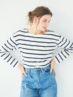 ボートネックゆったりカットソーTシャツ