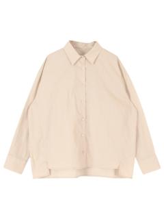 オーバーサイズバックフリルシャツ