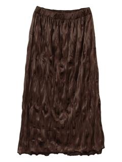 ワッシャープリーツベロアスカート
