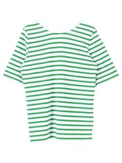 バックラウンドボーダーカットソーTシャツ