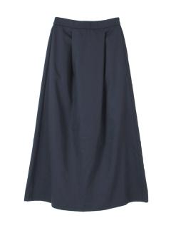 タックロングフレアスカート