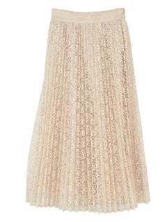 レースプリーツスカート
