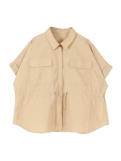 ポケット付きドローストリングシャツ