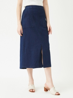フロントスリットデニムタイトスカート