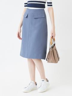 Aラインミモレ丈スカート