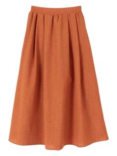 タックギャザーロングスカート