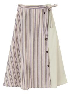 切替ボタンデザインフレアースカート