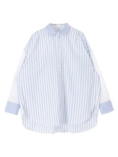 パターンストライプオーバーサイズシャツ