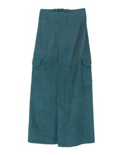 ミリタリーフロントファスナーロングスカート