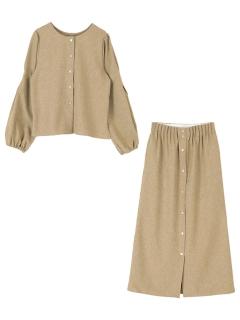 【titivate】マルチwayタックブラウス×スカートセットアップ