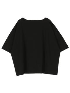 ボートネックスクエアTシャツ