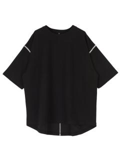 【titivate】デザインステッチロング丈Tシャツ