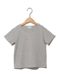 配色ステッチワッフルTシャツ