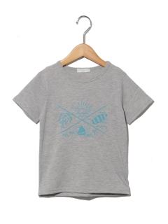 サマーアイランドプリント半袖Tシャツ
