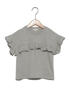 胸切替フリルTシャツ