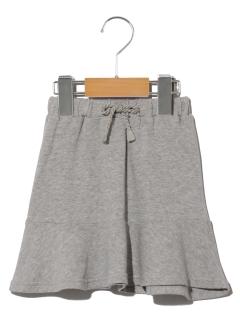 裾切替スウェットスカート