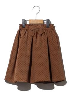 ドット柄スカート