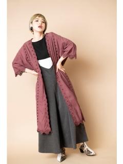 刺繍ガウンコート