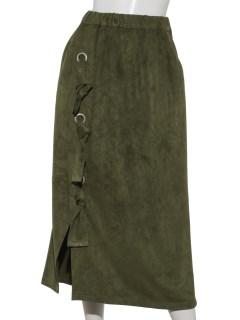 フェイクスエードラップスカート