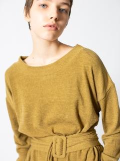 ベルトリブTシャツ