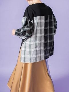 チュールレイヤードフレアースカート