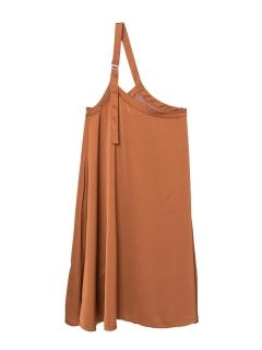 ワンショルダーサロペットスカート
