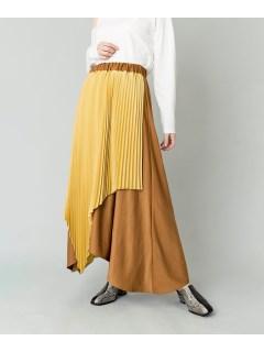 【LOAF】バイカラーアシンメトリープリーツスカート