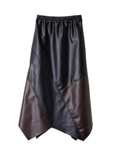 アシンメトリーバイカラースカート