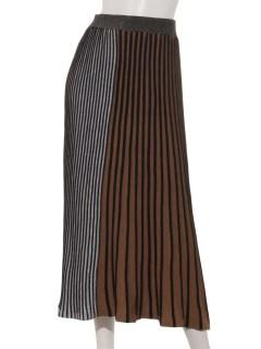 マルチカラーストライプニットスカート