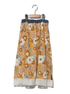 総柄スカート
