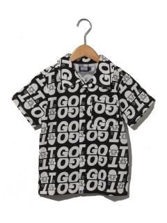 【~130サイズ以下】GOATロゴ柄シャツ