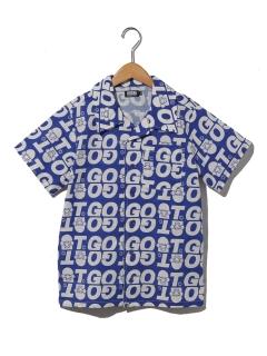 【140サイサイズ以上~】GOATロゴ柄シャツ