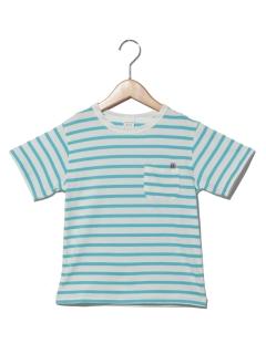 クリップ刺繍ボーダーTシャツ