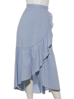 ラップ風フリルタイプライタースカート